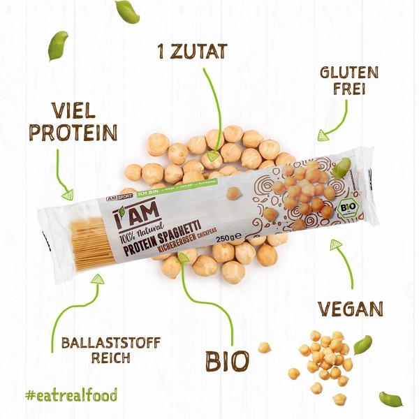 I AM® BIO Protein Spaghetti Kichererbsen im 12er Pack