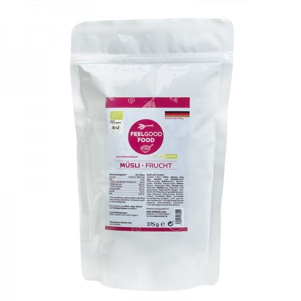AMSPORT® Früchte - Müsli 375g (vegan + Bio)