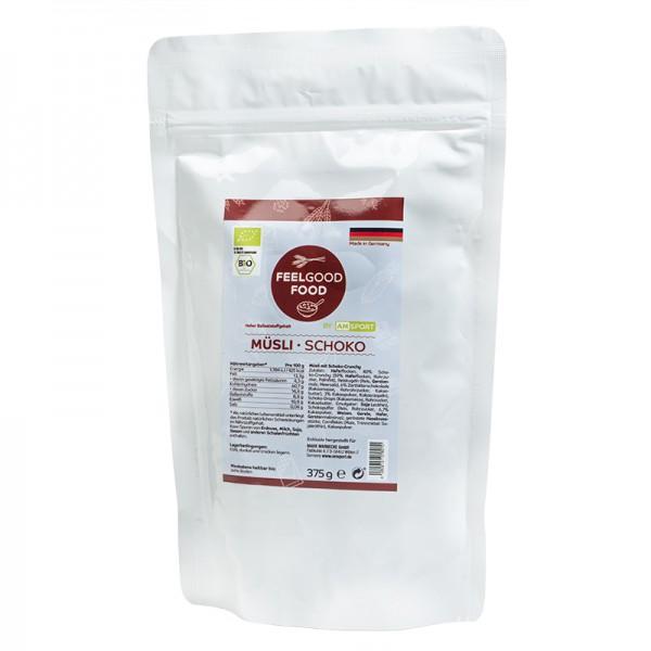 AMSPORT® Schoko - Müsli 375 g (vegan + Bio)