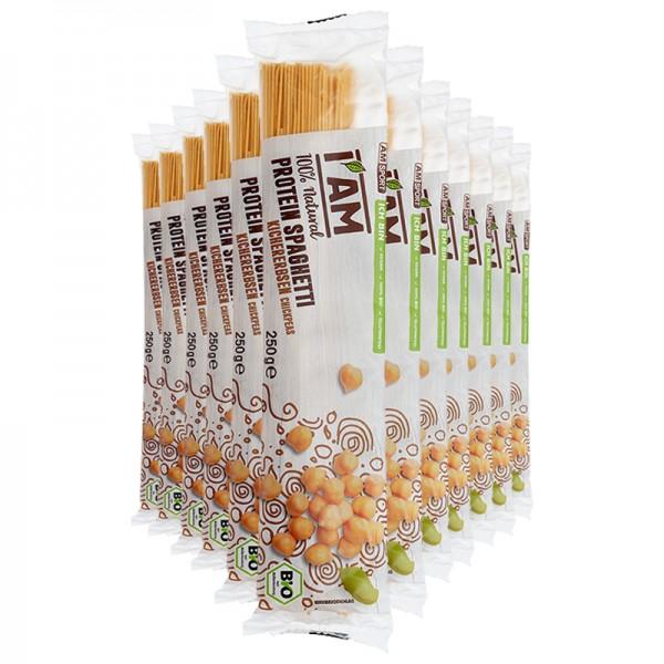I AM BIO Protein Spaghetti Kichererbsen im 12er-Pack