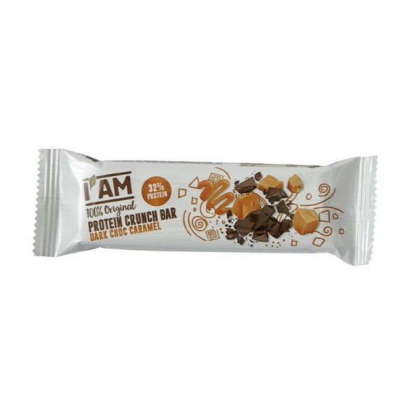 I AM® Protein Crunch Bar Dark Choc Caramel
